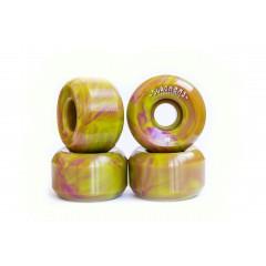 "Колеса SLACKERS ""stoner formula"" лайм + фиолетовый, 100А"